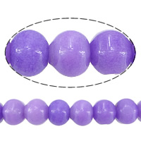 Natural Marble Beads, Dyed Marble, Rondelle, purple, 11x15mm, Hole:Approx 1.2mm, Approx 27PCs/Strand, Sold Per Approx 13 Inch Strand