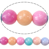 Natural Marble Beads Dyed Marble Round mixed colors Hole:Approx 1.8mm Length:Approx 15.5 Inch