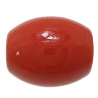 Cynobrowy koraliki, Cynober, Owal, Naturalne, czerwony, 13x11x11mm, otwór:około 2mm, 10komputery/wiele, sprzedane przez wiele