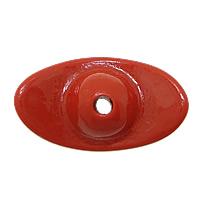 Cynobrowy koraliki, Cynober, Sztabka, Naturalne, czerwony, 22x13x10mm, otwór:około 2.5mm, 10komputery/wiele, sprzedane przez wiele