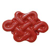 Cynobrowy koraliki, Cynober, Chiński węzeł, Naturalne, czerwony, 23x16x5mm, otwór:około 2mm, 10komputery/wiele, sprzedane przez wiele