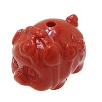 Cynobrowy koraliki, Cynober, świnia, Naturalne, czerwony, 19x14x15mm, otwór:około 2mm, 10komputery/wiele, sprzedane przez wiele