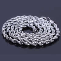 316L Stainless Steel Chain Necklace, rope chain, original color, 5mm, Sold Per Approx 31.5 Inch Strand