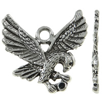 Zinc Alloy Pendant Rhinestone Setting Eagle antique silver color plated nickel lead   cadmium free 27x25x2.50mm Hole:Approx 3mm Approx 310PCs/KG