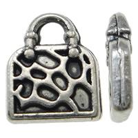 Zinklegering Handtas Hangers, Zinc Alloy, antiek zilver plated, nikkel, lood en cadmium vrij, 8x10x2mm, Gat:Ca 2mm, 100pC's/Bag, Verkocht door Bag