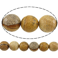 Natural Picture Jasper Beads, Round, faceted, 10mm, Hole:Approx 1mm, Length:Approx 15 Inch, 10Strands/Lot, Approx 37PCs/Strand, Sold By Lot
