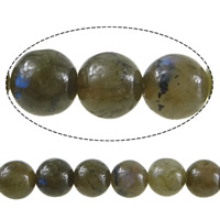 Natural Labradorite Beads, Round, 8mm, Hole:Approx 1mm, Length:Approx 15 Inch, 10Strands/Lot, Approx 46PCs/Strand, Sold By Lot