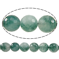 Luonnollinen Moss akaatti helmet, Pyöreä, kasvot, 12mm, Reikä:N. 1.5mm, Pituus:N. 15 tuuma, 10säikeet/erä, N. 32PC/Strand, Myymät erä