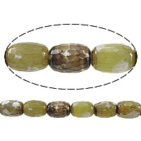 Antique Agate Beads, Oval, faceted, 18x14mm, Hole:Approx 2mm, Length:Approx 16 Inch, 5Strands/Lot, Approx 22PCs/Strand, Sold By Lot