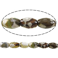 Antique Agate Beads, Oval, faceted, 12x8mm, Hole:Approx 1.5mm, Length:Approx 15 Inch, 5Strands/Lot, Approx 32PCs/Strand, Sold By Lot