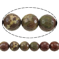 Gemstone Jewelry Beads, Round, faceted, 8mm, Hole:Approx 1mm, Length:Approx 15 Inch, 10Strands/Lot, Approx 48PCs/Strand, Sold By Lot