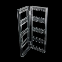 Fashion Jewelry Display, PC Plastic, Rectangle, clear, 285x105mm, 5PCs/Lot, Sold By Lot