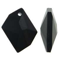 Crystal Pendants, Nuggets, faceted, Jet, 20x16x4mm, Hole:Approx 1.5mm, 10PCs/Bag, Sold By Bag
