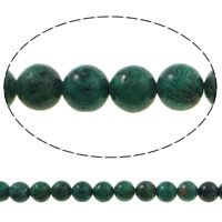 Chrysocolla Beads, Round, made in China, 10mm, Hole:Approx 1mm, Approx 41PCs/Strand, Sold Per Approx 15.7 Inch Strand