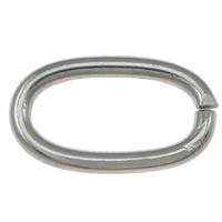 Stainless Steel Open Ring, 304 Stainless Steel, Oval, original color, 11x6.50x1.20mm, 2000PCs/Lot, Sold By Lot