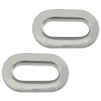 Roestvrij staal ring connectors, 304 roestvrij staal, Ovaal, oorspronkelijke kleur, 11x7x1.80mm, 200pC's/Lot, Verkocht door Lot