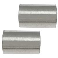 Roestvrijstaal Buis Kralen, 304 roestvrij staal, oorspronkelijke kleur, 9x6x0.50mm, Gat:Ca 5mm, 200pC's/Lot, Verkocht door Lot