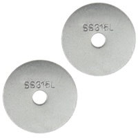 Ruostumaton teräs Välike helmiä, 316L, Litteä pyöreä, alkuperäinen väri, 12x0.50mm, Reikä:N. 2mm, 1000PC/erä, Myymät erä