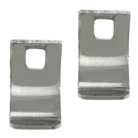 Elementy bransolety ze stali nierdzewnej, Stal nierdzewna 304, oryginalny kolor, 4x7x0.30mm, otwór:około 1.5mm, 300komputery/wiele, sprzedane przez wiele