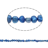 Baroque Cultured Freshwater Pearl Beads, blue, 4-5mm, Hole:Approx 0.8mm, Sold Per 14 Inch Strand