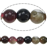 Tourmaline Beads, Round, October Birthstone, 4mm, Hole:Approx 1-1.5mm, Length:Approx 15.5 Inch, 5Strands/Lot, Approx 98PCs/Strand, Sold By Lot