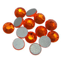 Crystal Cabochons, Dome, flat back & faceted, Fire Opal, Grade A, 4.6-4.8mm, 10Grosses/Bag, 144PCs/Gross, Sold By Bag