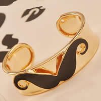 Zinc Alloy Cuff Bangle, gold color plated, enamel, nickel, lead & cadmium free, 20mm, Length:6-7.5 Inch, 12PCs/Bag, Sold By Bag