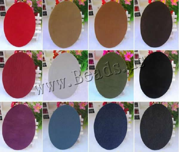 Sewing-on Patch Velveteen Flat Oval imitation deerskin mixed colors 110x140mm 3 Sold Lot