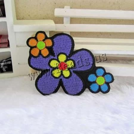 Buy Iron Patches Cloth Flower multi-colored 80x58mm 2 Sold Lot