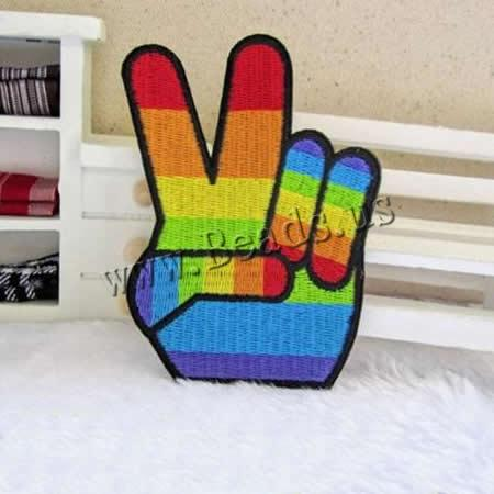 Buy Iron Patches Cloth Hand multi-colored 62x93mm 2 Sold Lot