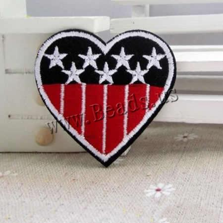 Buy Iron Patches Cloth Flat Heart star pattern 52x51mm 3 Sold Lot