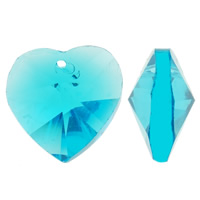 Crystal Pendants, Heart, faceted & imitation CRYSTALLIZED™ element crystal, more colors for choice, 14x14x8mm, Hole:Approx 1mm, 36PCs/Bag, Sold By Bag