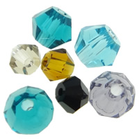 Imitation CRYSTALLIZED™ Element Crystal Beads, Bicone, faceted & imitation CRYSTALLIZED™ crystal & mixed, 2-4mm, Hole:Approx 0.5-1mm, 100PCs/Bag, Sold By Bag