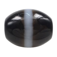 Natural Tibetan Agate Dzi Beads, Oval, stripe & two tone, 14.50x13x3mm, Hole:Approx 2mm, 5PCs/Lot, Sold By Lot