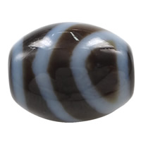Natural Tibetan Agate Dzi Beads, Oval, one-eyed & two tone, 14.50x13x3mm, Hole:Approx 2mm, 5PCs/Lot, Sold By Lot