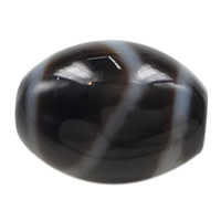 Natural Tibetan Agate Dzi Beads, Oval, mountain & two tone, 14.50x13x3mm, Hole:Approx 2mm, 5PCs/Lot, Sold By Lot