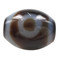 Natural Tibetan Agate Dzi Beads, Oval, one-eyed & more sizes for choice & two tone, Hole:Approx 2mm, 5PCs/Lot, Sold By Lot