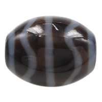 Natural Tibetan Agate Dzi Beads, Oval, water wave & more sizes for choice & two tone, Hole:Approx 2mm, 5PCs/Lot, Sold By Lot