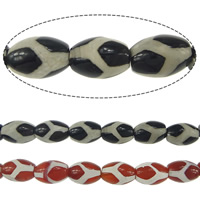 Natural Tibetan Agate Dzi Beads, Oval, textured, more colors for choice, 14x10mm, Hole:Approx 1.5mm, Length:Approx 15.5 Inch, 5Strands/Lot, Approx 28PCs/Strand, Sold By Lot