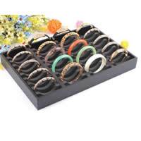Cardboard Bracelet Display, with PE Foam, Rectangle, black, 350x240x350mm,75x15mm, 3PCs/Lot, Sold By Lot