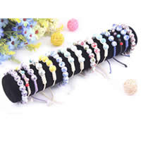 Velveteen Bracelet Display, Cardboard, with Velveteen, Column, black, 300x50mm, 20PCs/Lot, Sold By Lot