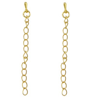 Brass Extender Chain, gold color plated, nickel, lead & cadmium free, 70mm, 5mm, 3.5x0.5mm, 1000Strands/Bag, Sold By Bag