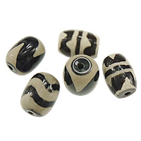 Natural Tibetan Agate Dzi Beads, Oval, mixed & two tone, 17x14x14mm, Hole:Approx 2mm, 50PCs/Lot, Sold By Lot