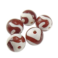 Natural Tibetan Agate Dzi Beads, Round, mixed & two tone, 12mm, Hole:Approx 2mm, 50PCs/Lot, Sold By Lot