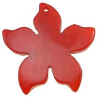Wisior z czerwonym agatem, Agat czerwony, Kwiat, 48x6mm, otwór:około 2.5mm, 10komputery/torba, sprzedane przez torba