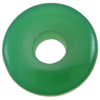 Green Agate Pendant, Donut, can be used as pendant or bead, 20x6mm, Hole:Approx 6.5mm, 10PCs/Bag, Sold By Bag