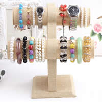 Cardboard Bracelet Display, with Linen, earth yellow, 230x155mm,210x220mm,120x120mm,50mm, 3PCs/Lot, Sold By Lot
