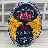 Iron on Patches, Cloth, with Velveteen, Flat Oval, 53x71mm, 100PCs/Lot, Sold By Lot