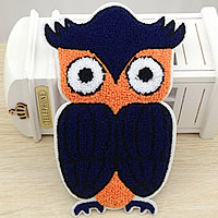 Iron on Patches, Cloth, with Velveteen, Owl, 137x205mm, 50PCs/Lot, Sold By Lot