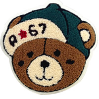 Iron on Patches, Cloth, with Velveteen, Bear, brown, 190x178mm, 30PCs/Lot, Sold By Lot